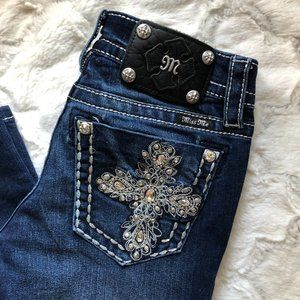 Miss Me Signature-Rise Boot Cut Jeans Size 26